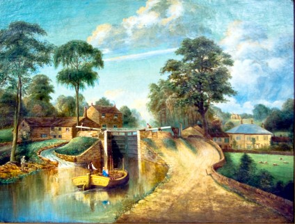 A Wilson painting Hirst Lock 1878