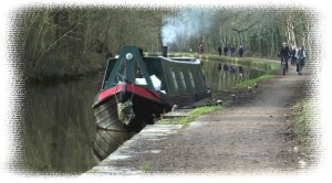 Smokey barge with border