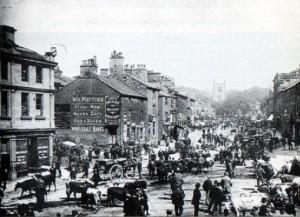 Skipton High Street on Market Day
