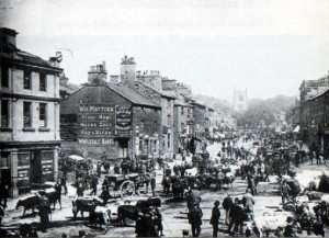 Skipton High Street on Market Day