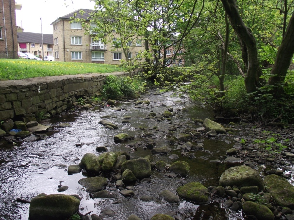 The Beck nears the river