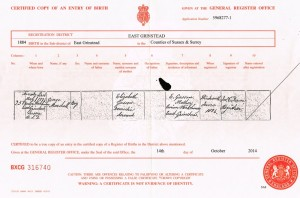The birth certificate